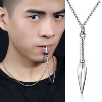 Spear Pendant Necklace Silver Gold Black Chain Necklace Men Jewelry Gift Trendy