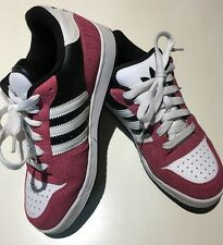 "WOMEN'S ADIDAS ""SUPERSTAR"" STYLE TENNIS, SNEAKER SHOES  - PINK, WHITE SIZE 8"