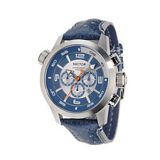 NEW SECTOR MEN'S BLUE OVERSIZE CHRONOGRAPH WATCH