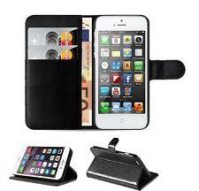 Estuche De Cuero Negro para iPhone 5 SE 6 7 8 XS Max Abatible Billetera Plus X cubierta magnética