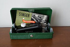 VINTAGE SINGER LOW SHANK BUTTONHOLER WITH 5 CAMs + Instructions 160506