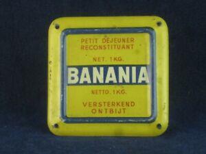 53427 Old Vintage Antique Tin Sign Shop Advert N0t Enamel Banania Food Drink