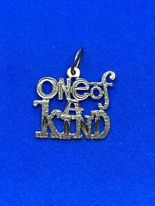 """14K Yellow Gold """"One Of A Kind"""" Charm"""
