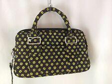Jordan Accessories NY Handbag blk. yellow quilted Satchel New
