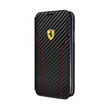 Ferrari funda con tapa fibra de carbono Apple iPhone X