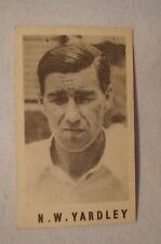 1940's Vintage G.J.Coles Cricket Card -  N.W.Yardley - Yorkshire