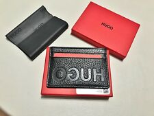 Hugo Boss Card holder 'Victorian_S Card' 50380111' pebbled leather W/TAGS BOXED