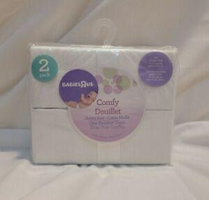 Babies R Us Comfy Douillet Jersey Knit bassinet Sheet/White