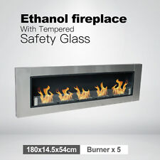 Wall Mounted multi Burner Bio Ethanol Fireplace with Tempered Safety Glass