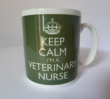 Keep Calm I'm a Veterinary Nurse Mug In Carry On Style Green Gift Present Cup