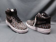 Nike Men's Air Force 1 High 07 LV8 Fashion Sneakers Just Do It Black Size 8 NWOB