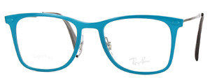 RAY BAN LIGHTRAY AUTHENTIC BLUE TEAL FRAME EYEGLASSES RB 7086 5640 49-18 140