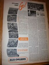 VINTAGE  ALLIS CHALMERS  ADVERTISING PAGE -G  CA  WD TRACTORS -1950