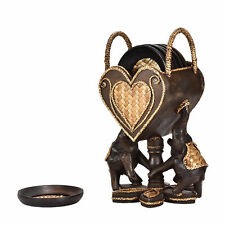 Elephant Pair Holding a Heart Set of 6 Coaster Kitchen Decor