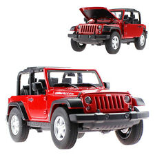 MZ 1:24 Scale JEEP WRANGLER Diecast Model Car With Box Red