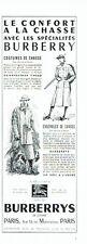 Publicité Advertising 067  1957  Burberrys  vetements chasse