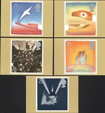 (36521) GB PHQ WWII Two Peace and Victory 1995 postcard set
