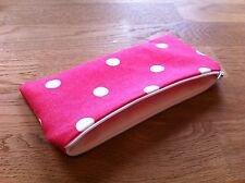 Handmade with Cath Kidston Red Spot Fabric - Pencil/Make-Up/Glasses Case