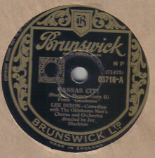 LEE DIXON - Kansas City / JOAN ROBERTS - Out Of My Dreams 78 rpm disc (A+)
