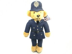 """Vintage 1970s Police Bear With Stand 18"""""""