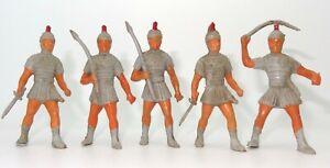 MARX (?) 5 ROMAN SOLDIERS 72 MM - ULTRA RARE