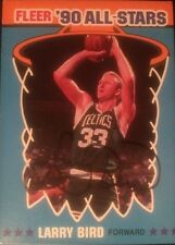 Larry Bird Autographed Fleer '90 All-Stars Basketball Card #2 Boston Celtics