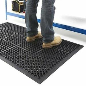 Large Heavy Duty Rubber Ring Entrance Mat Safety Anti-Fatigue Non Slip Workplace