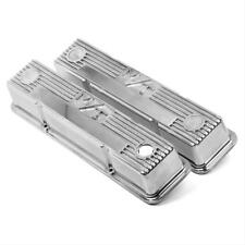HO241-82 Holley M/T Rocker Covers Tall Polished Finned Chev 350 Small Block