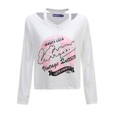 New Womens Loose Sleeve Tops & Shirts RRP£25 Print T-shirt T shirt Jumper