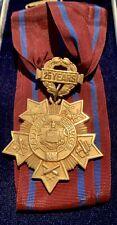 New York National Guard- 25 Year Long Service Medal-10k