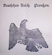 1925 Deutsches Reich Preußen Einbürgerungsurkunde Regierungs-Präsident Arnsberg