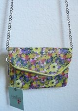 Hobo International Convertible Daria Cross Body Bag Daisy Floral Print Leather
