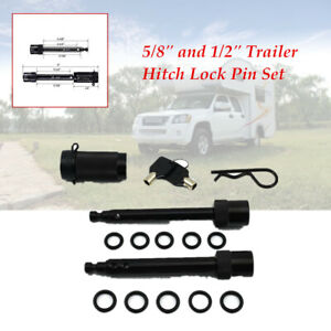 """Heavy Hitch Lock Pin Set Locking System Trailer Tow Receiver fits 5/8"""" &1/2"""""""