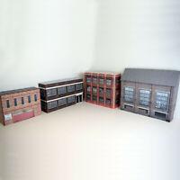1/76 Card OO Gauge Pack of 4 Industrial Buildings for Model Railways (Set 001)