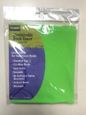 """Flomo Stretchable Book Cover Green Washable Reuse 6.75"""" X 7.25"""""""