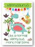 Second Ave Children's Nannysaurus Dinosaur Nanny Happy Birthday Card