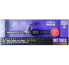 "Hot Tools Pro 1/2"" Salon Curling Iron Wand 24K Gold #1103 - FREE PRIORITY SHIP"