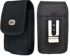 HEAVY DUTY VERTICAL NYLON HOLSTER POUCH FOR IPHONE 5 5S DEFENDER COMMUTER CASE