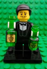 LEGO Sommelier w/ 2 Wine Bottles Mini Figure Waiter Minifig 100% Authentic