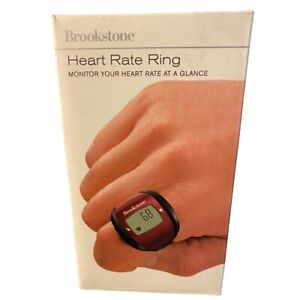 Brookstone HealthSmart Heart Rate Monitor Ring Red Infared Technology ~gym Gear