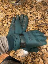 Vintage Men's Columbia 1990's Blue Green Ski Snowboard Gloves