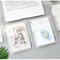PVC Cover Journal Notebook Lined Paper Diary Planner Spiral School Refillable
