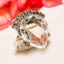Sterling Silver Ring s.7 Sc-Ssr-11385 Rainbow Fire Topaz Vintage Style 925