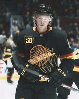Vancouver Canucks Brock Boeser Autographed Signed 8x10 NHL Photo COA #8