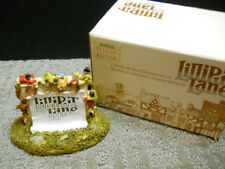 Lilliput Lane Sign Scroll On The Wall #00145 Nib 1986 Signed