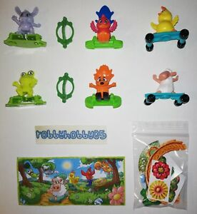ANIMALS IN THE GREEN COMPLETE SET WITH ALL PAPERS KINDER SURPRISE EASTER 2021