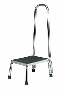 Medical Chrome Plated Step Stool with Handle