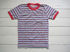 NEUes 70er 80er LEVI'S T-SHIRT L True Vintage Streifen Gestreift Kids Kinder XS