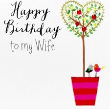 JANIE WILSON GREETING CARD: HAPPY BIRTHDAY TO MY WIFE- NEW IN CELLO