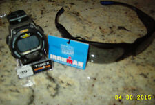 NWT Foster Grant Ironman Sunglasses Black3493020+TIMEX IRONMAN INDIGLO WATCH